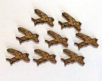 Laser Cut F4U Corsair Charms - 8 Pieces