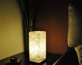 Samantha, Modern Table Lamp made of Thread or rope