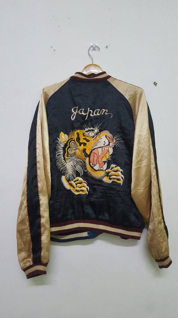 Rare Design Vintage Sukajan Reversible Boy PPnwT53YL