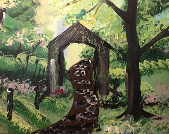 Covered Bridge in the Spring Sold