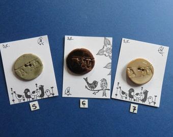 Round Ceramic Knobs - Handmade - Craftwork - Pottery