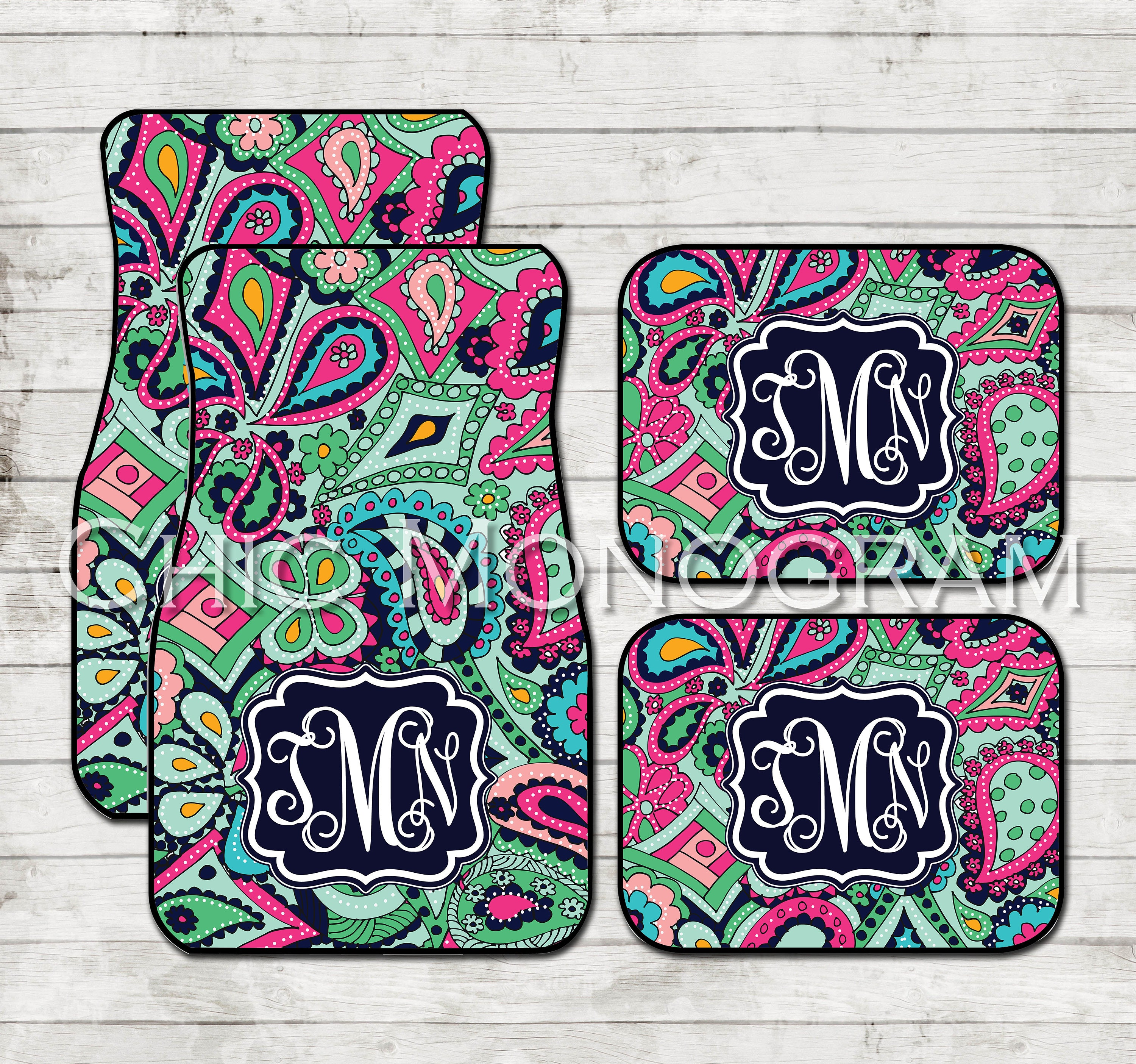 Birthday Gifts For Girls Monogram Car Floor Mats Lilly
