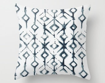 Navy Pillow cover Tribal Pillow Cover Decorative Pillow Cover Couch Pillows Size Choice