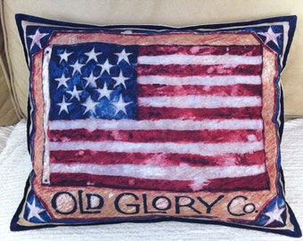 U.S.A. American Flag Pillow, Old Glory Co.