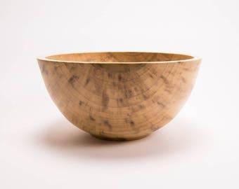 "Tulip Poplar Wooden Salad Bowl #1729  10 7/8"" X 5 3/8""  wooden bowls, wood bowls, poplar bowls, wooden salad bowls, wood salad bowls, bowls"