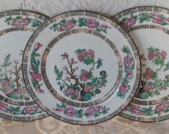 Indian Tree dessert plates, John Maddock & Sons, Royal Vitreous, England