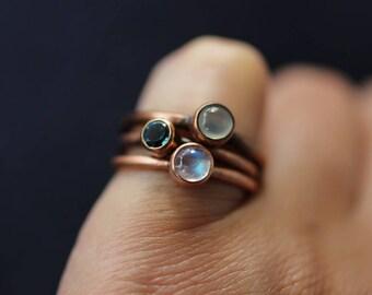London Blue Topaz Ring Copper Ring Blue Topaz Ring