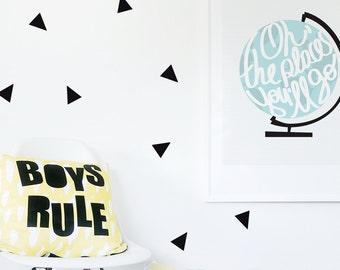 Wall Stickers Triangle Wall Decal Kids Wall Decal Baby Nursery Decor Black Stickers Triangle Baby Decor. Little Peaks Children Wall Decal