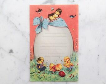 2 EASTER CARDS - vintage easter postcards, vintage Italian season postcard, paper ephemera, cardboard collage, easter decor