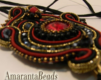 Ciondolo Soutache  - Collana in soutache, pendente in soutache Treu Love Gioiello Made in Italy