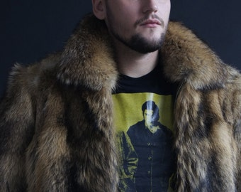 Brand new natural coyote fur jacket coat,  Mens jacket, jacket coyote men's fur coat, coyote fur coat,  mens fur