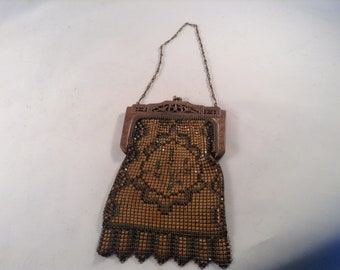 Whiting and Davis enamel mesh purse 1920's Great Gatsby