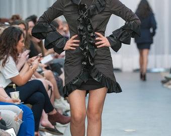 Black Ruffled Dress (shown at Toronto Fashion Week)