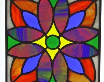 Framed Flower Stained Glass