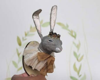 Spun Cotton faux taxidermy hunting trophy hare rabbit Filasophie