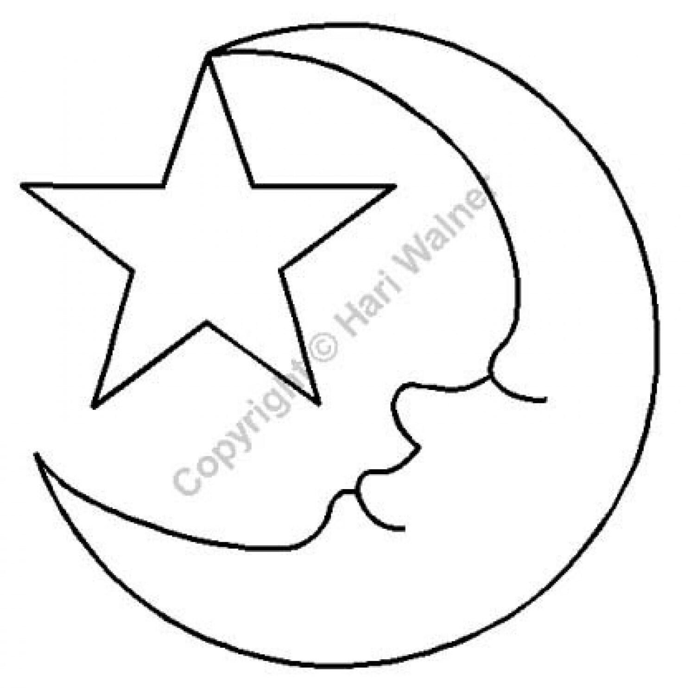 Vorstellung Schablone Vorlage: Mond und Sterne Applique