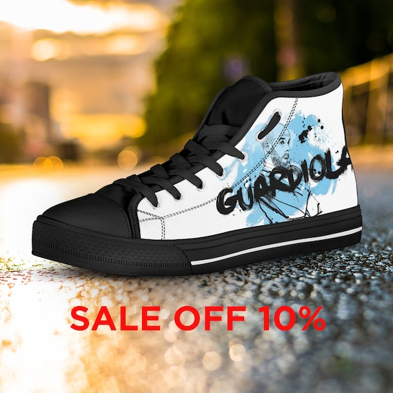 MCFC Custom Football Shoes Guardiola Custom Pep Manchester Top Converse Custom Guardiola Guardiola Shoes Converse Shoes City Pep High 6ngqaZxTw6