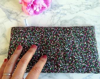 Bouillotte sèche petites fleurs -pour petits et grands - réconfort - housse lavable- réutilisable- Bien-être- cocooning - Chaleur douce