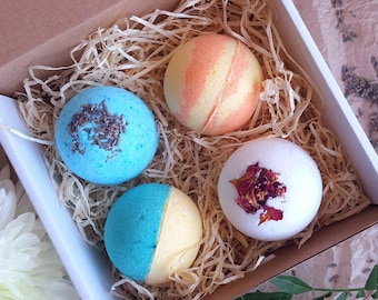 Flower scented  bath bomb set/ gift set