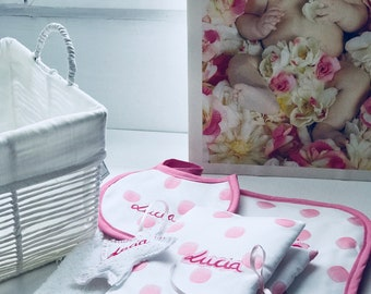 Baby basket, souvenirs for life, handmade and personalized, exclusive.