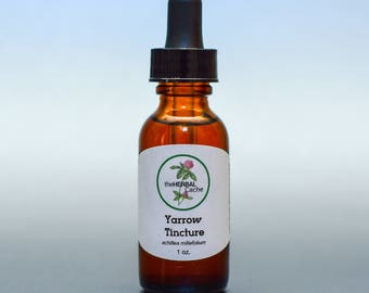 Yarrow Tincture - Herbal Remedy for Wounds, Coughs, Allergies, Eczema, Arthritis