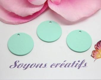 5 charm round 18mm - creating jewelry - Mint