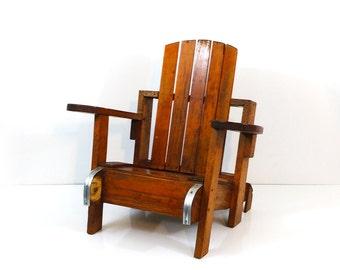 Child's handmade wood adirondack chair