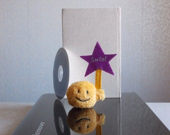 tiny Smiley face, smiley face plush toy, stuffed emoji, kawaii plushies, office gift, gift to programmer, geek gift, gift to admin, STAR