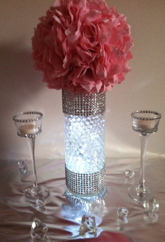 12 Kissing Ball Centerpiece Sets Bling Rhinestone