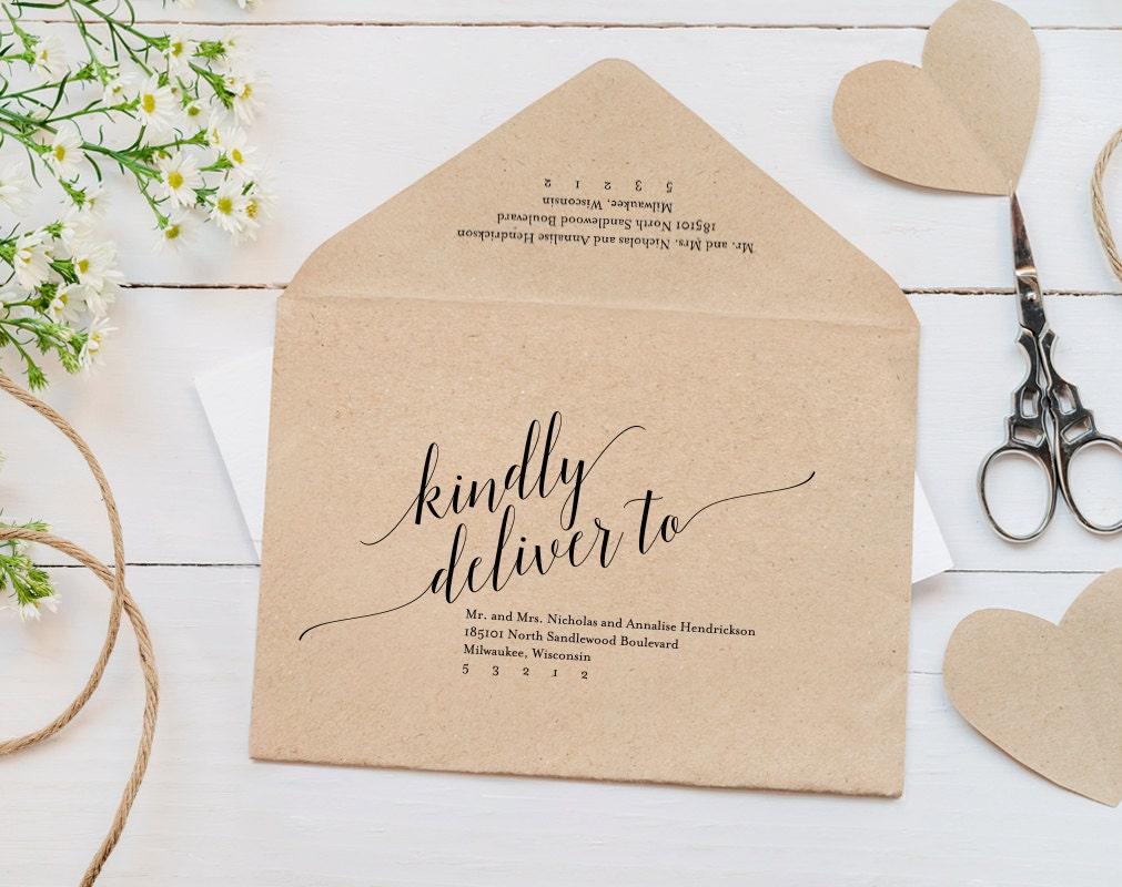 Envelope Printable Envelope Template Wedding