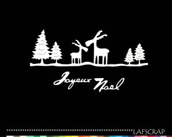 Cuts scrapbooking reindeer Christmas tree animal Word embellishment Scrapbook die cut scrap happy Christmas deco paper