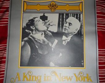 Original 1973 German Charlie Chaplin A King In New York Movie Poster Comedy