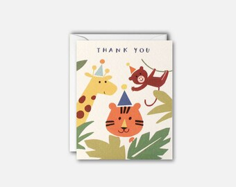 Jungle Thank You Pack of 5 cards by James Ellis