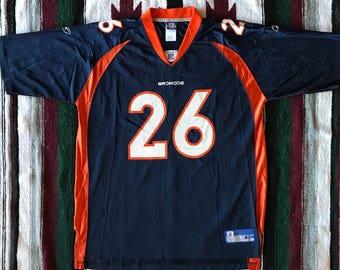 Reebok NFL Denver Broncos Clinton Portis Football Jersey Size XL
