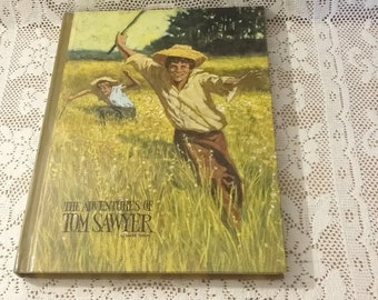 The Adventures Of Tom Sawyer By Mark Twain Vintage Book