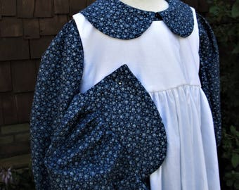 Girls Pioneer dress/Little House Prairie Costume/long  sleeves.. (Please read full details inside ad)