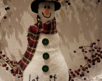 Snowman Shelf Sitter,Snowman,Country Snowman,Primitive Snowman,Christmas Decor, Winter Decor,Holiday Decor,