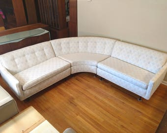 Mid Century Three Piece Sectional Sofa
