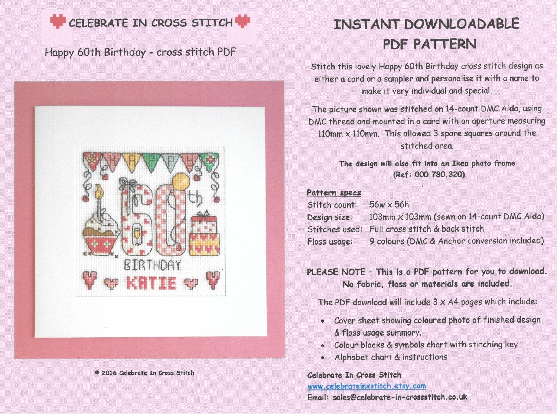 Pdf happy 60th birthday cross stitch chart download zoom nvjuhfo Gallery