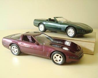 1994-95 Chevy Corvette dealer promo model car, choose 1, showroom giveaway, AMT Ertl 1/25 collectible car, miniature automobile, mint in box
