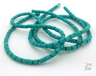 80 beads 3x5mm turquoise Howlite (PH142)