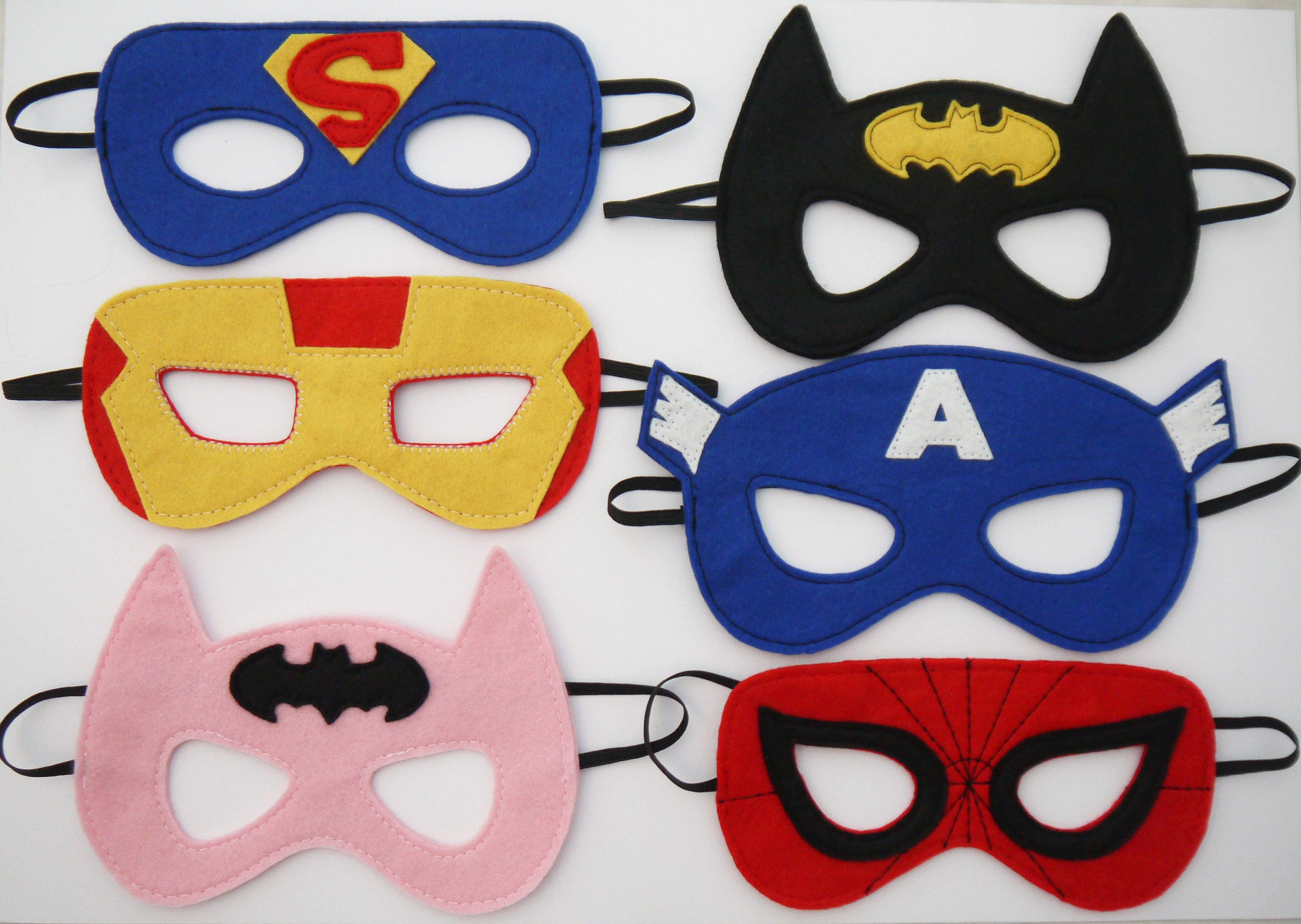 Superhero mask avengers batman spiderman batman bat girl boys - Masque superman ...