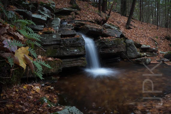 Waterfall and woodland pool, Leverett, Western Massachusetts