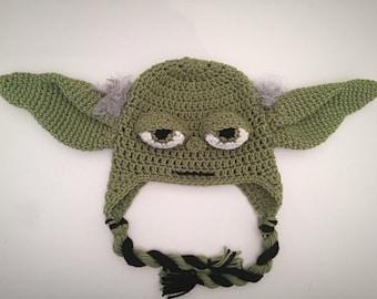 Crochet yoda hat etsy crochet star wars yoda inspired hat pattern dt1010fo