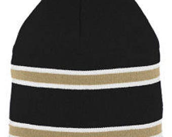 Striped Knit Beanies - Monogrammed