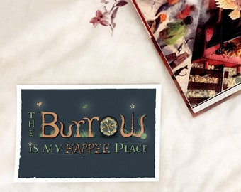 The Burrow is my Happee Place  - A5 print - inspired by Harry Potter