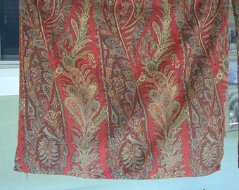 """Paisley Print Pillow Shams, Euro Size, Insert Size 24"""". Antique Red, Adobe, Olive Green and Gold, 100% Cotton,With Zippers"""