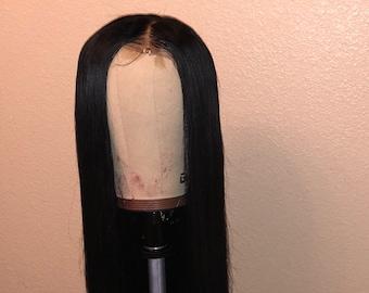 Straight Brazilian Human Lace Front Wig