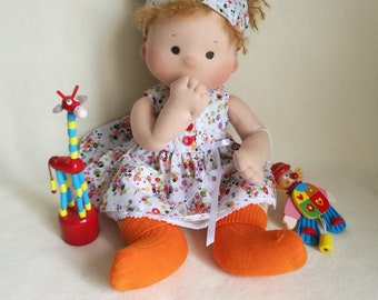 Waldorf Baby Doll The First Doll Waldorf Doll Soft Doll Organic Toy Toys And Games And Figures 16 Inch Doll Textile Doll