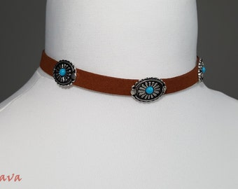 Retro Choker collar necklace amulet